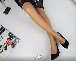 Женские черные туфли на высоком каблуке 10,5 см, натуральный замш  /   женские туфли, весна 2017, стильные , фото 2