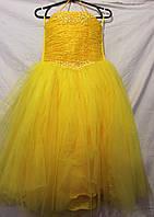 Детское платье,желтое,купить платье для девочки очень дешево,12 DP-0015