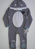Комбинезон флисовый серый Primark Акула