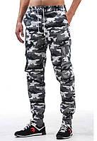 Летние мужские штаны карго Ястребь - White camo (Вайткамо) (Опт и розница)