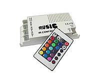 Музыкальный RGB контроллер 108W