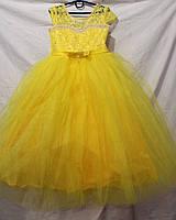 Детское платье Лилия,желтое,купить платье для девочки очень дешево,12 DP-0022
