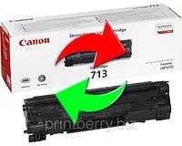 Обмен лазерного картриджа Canon 713