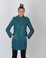 Пальто весеннее шерсть, стеганые рукава, фото 1