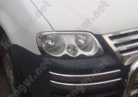 Хром накладки на передние фары Volkswagen Caddy