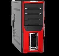 Компьютерный корпус Crown Diamond CMC-D28 Red/LCD без БП