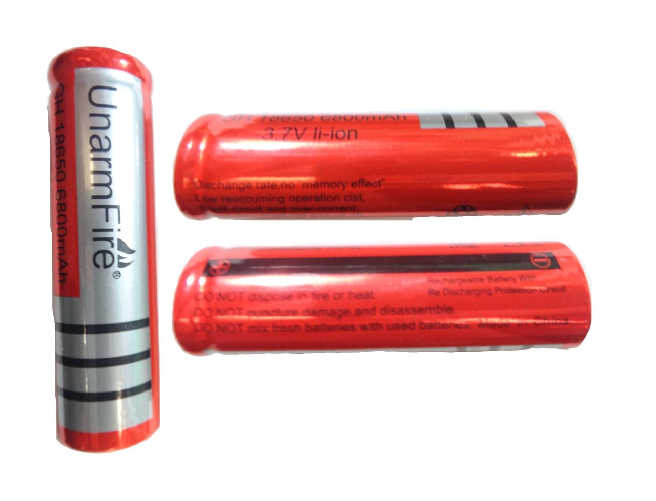 Аккумулятор литиевый UnarmFire 18650 3.7V 6800 mAh