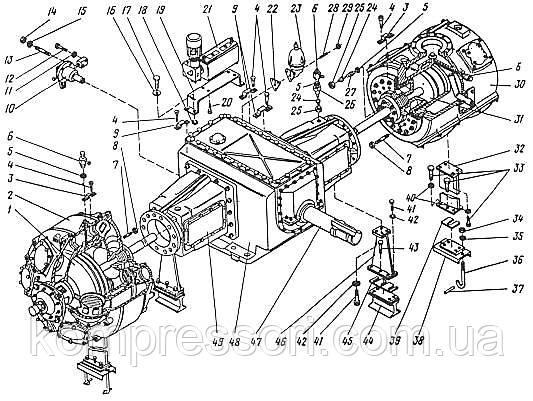 Детали компрессора 2ВМ10-63/9
