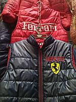 Детская весенняя жилетка для мальчика Ferrari