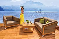 Деревянный комплект  ROMA для отдыха диван 2-х местн.+кресла+столик
