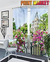 Фотошторы мост в цветах