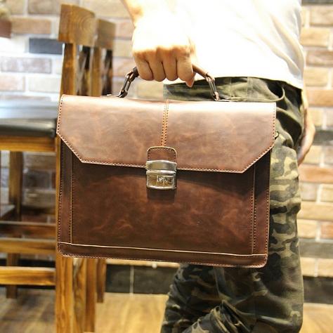 Чоловічий шкіряний портфель Модель - 2161