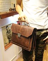 Чоловічий шкіряний портфель Модель - 2161, фото 4