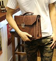 Мужской кожаный портфель Модель - 2161, фото 5