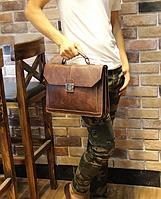 Чоловічий шкіряний портфель Модель - 2161, фото 6