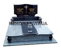 Подвійний гранітний пам'ятник 2129