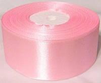 Лента атлас 4 см/1 м, нежно-розовая
