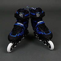 Ролики Best Rollers (размер 35-38) колёса PU, без света, d=7.6см. Цвет синий