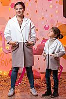 """Элегантное детское кашемировое пальто """"Мокко Комби"""""""