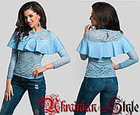 Женская романтичная гипюровая блуза