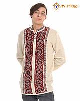 Мужская вязаная рубашка Звездочка красная, фото 1