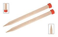 Спицы прямые 35 см Jumbo Birch KnitPro, 35273, 35.00 мм