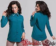 Классическая женская шифоновая блуза-рубашка
