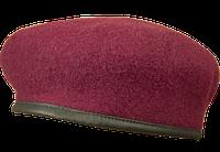 Берет форменный безшовний Капля малина с подкокардником