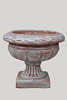 Бетонный вазон, чаша, цветочник садовый, цветник парковый, ваза