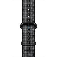 Оригинальный ремешок из плетёного нейлона Apple Black Woven Nylon для часов Apple Watch 42мм (S/M и M/L) - черный (MM9Y2)
