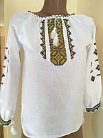 Біла вишита блуза для дівчинки на домотканому полотні 41ce4e90ea95d