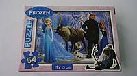 """Пазлы """"Frozen.Холодное Сердце"""",54 ел,Enfant,155х110 мм.Детские пазлы, 54 елементов.Пазли Холодне серце на 54 э"""