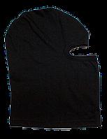 Шапка-маска летняя трикотажная черная