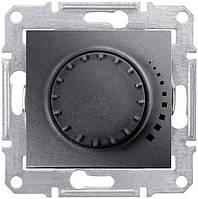 Светорегулятор (диммер) емкостной поворотно-нажимной проходной 25-325 Вт/ВА Schneider Electric Sedna графит