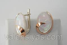 Нарядный набор украшений из серебра с лунными опалами, фото 3