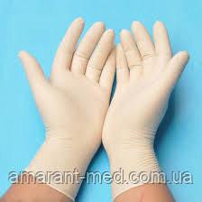 Перчатки, смотровые н/ст., припудр. р. S
