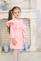 Нарядное детское платье с воланом Амели TM Brendinno, 5 размеров