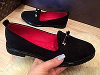 Туфли женские на низком ходу, удобные и мягкие.