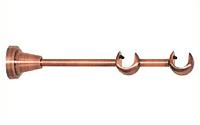 Держатель двойной открытый для карниза 16/16 мм античная медь