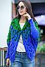 Кофта Лало з капюшоном синьо-зелена