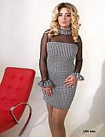 Платье со съёмным чокером 144 вис