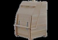 Мини-сауна квадратная  «Профессиональная» с круглой крышкой
