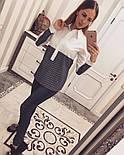 Женская стильная двухцветная удлиненная рубашка (2 цвета), фото 4