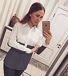 Женская стильная двухцветная удлиненная рубашка (2 цвета), фото 5
