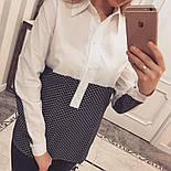 Женская стильная двухцветная удлиненная рубашка (2 цвета), фото 6