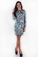 Трикотажное женское платье SO-13142-TRQ бирюза ТМ Alpama 46-52 размеры
