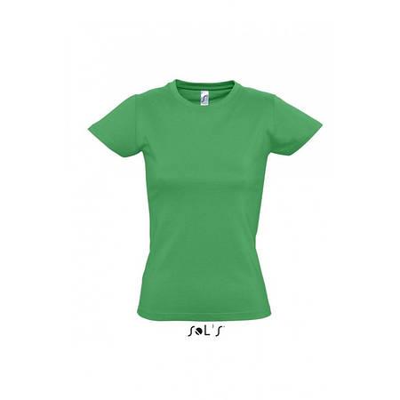 Футболка светло-зеленая, SOL'S Imperial woman, размеры от S до XXL