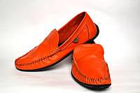Мокасины мужские кожаные оранжевые натуральные Rosso Avangard Guerin M4 Buccia d'arancia, фото 1