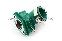 Патрубок карбюратора (коллектор) 4T GY6 50  (силиконовый, зеленый) 139QMB NJK