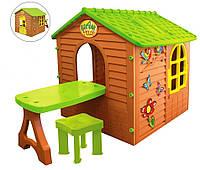 Большой садовый домик Mochtoys + столик + стульчик